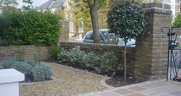 I like the tree and the gravel inlay | Small front gardens, Garden .