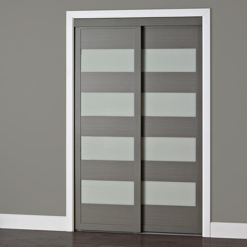 Colonial Elegance 4-Lite Framed Frosted Glass Sliding Door at Menards