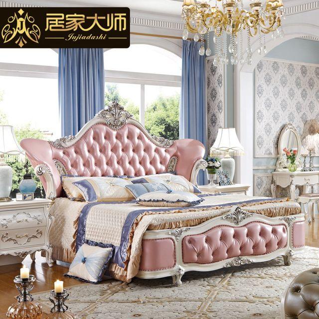 China Guangzhou Leather Modern Luxury Princess Bedroom Furniture .