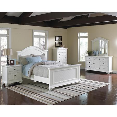 Addison White Bedroom Set (Choose Size) - Sam's Cl
