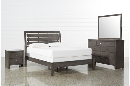 Chad Grey Eastern King 4 Piece Bedroom Set | Living Spac