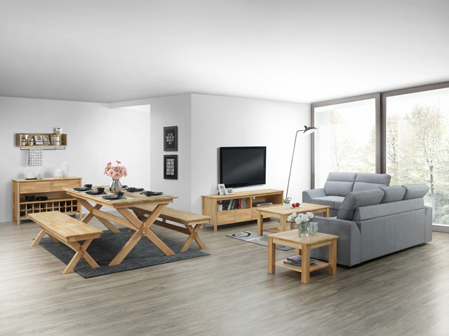 MODERN HARDWOOD FURNITURE PACKAGES - Modern - Family Room - by B2C .
