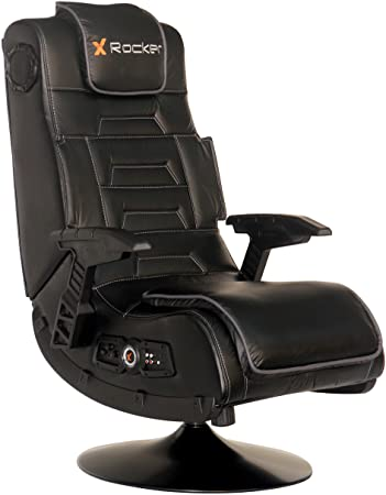 Amazon.com: X Rocker Pro Series 2.1 Vibrating Black Leather .