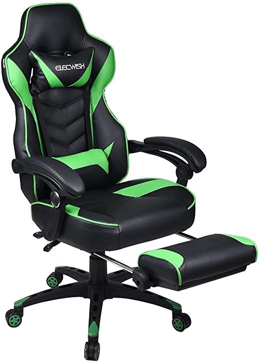 Amazon.com: Video Gaming Chair Racing Office - Reclining PU .