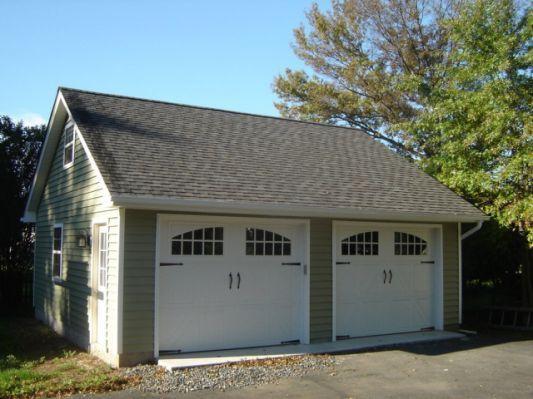 2-car-detached-garage-kits-plans | Garage door design, Car gara