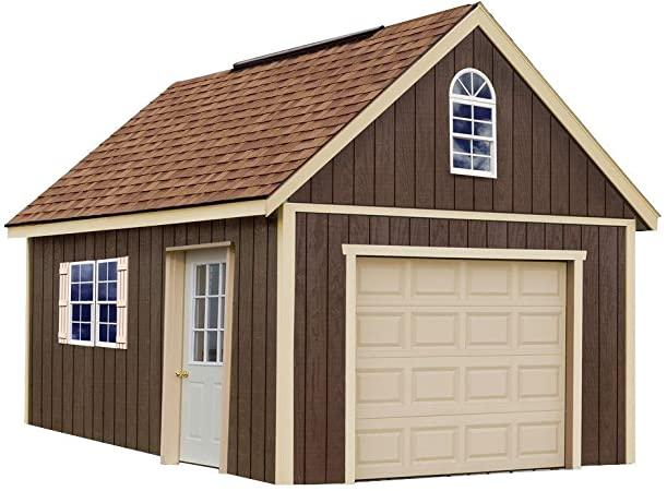 Amazon.com : Glenwood 12 ft. x 16 ft. Wood Garage Kit without .