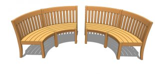 Curved garden benches | 3D Warehou
