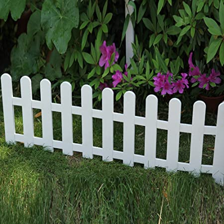 Amazon.com : Sungmor Decorative DIY Plastic Garden Fence, 48in .
