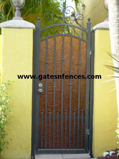 Garden Gates-Walk Thru Gates-Wrought Iron or Aluminum Garden .