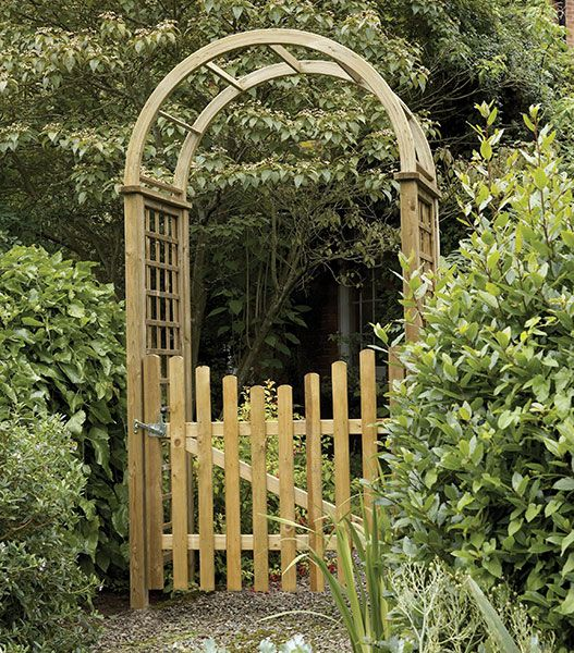 etrance to garden gates | Garden Arch with Gate This is it. May .