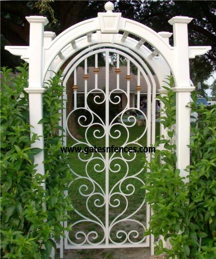 Steel Garden Gate Garden Entry Gates Iron Steel Modern Aluminum Gard