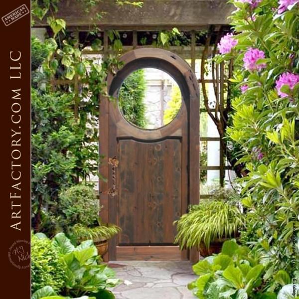 Custom Chinese Moon Gate: Solid Wood Handmade Garden Entran