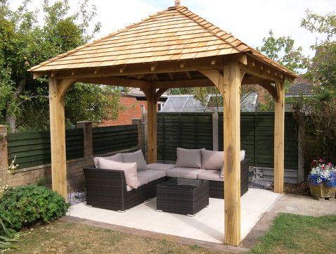 green oak garden gazebo | Garden huts, Garden gaze