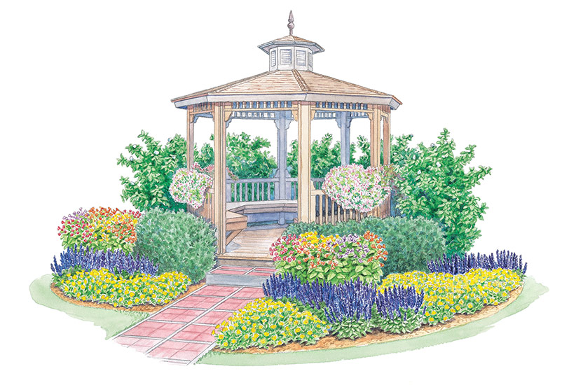 Planting around a gazebo | Garden Ga