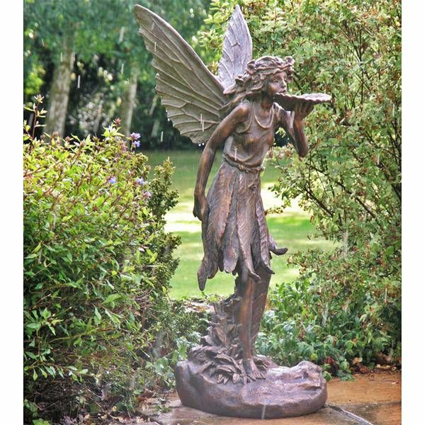 large fairy garden statue | Large Standing Fairy Resin Garden .