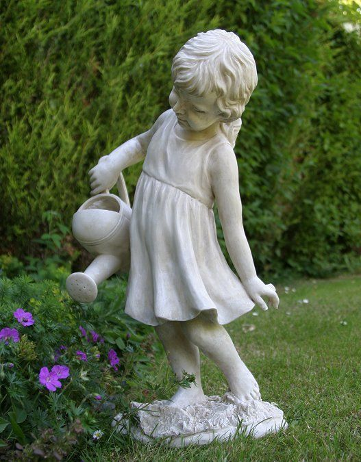 Garden Statues And Ornaments | Girl Figure Garden Statue .