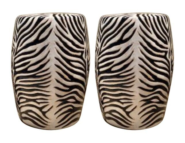 Zebra Garden Stools | The Local Vau