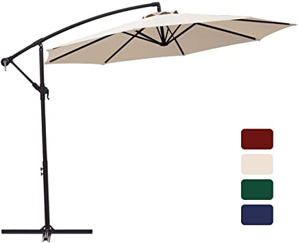 Amazon.com : Patio Umbrella 10 ft Cantilever Offset Umbrella .