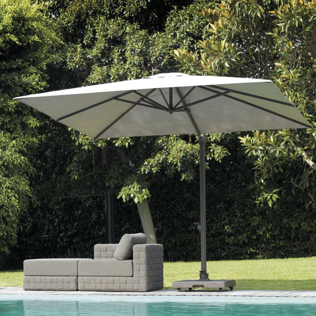 Square Garden umbrella Marte Talenti | Fabric Garden umbrellas .
