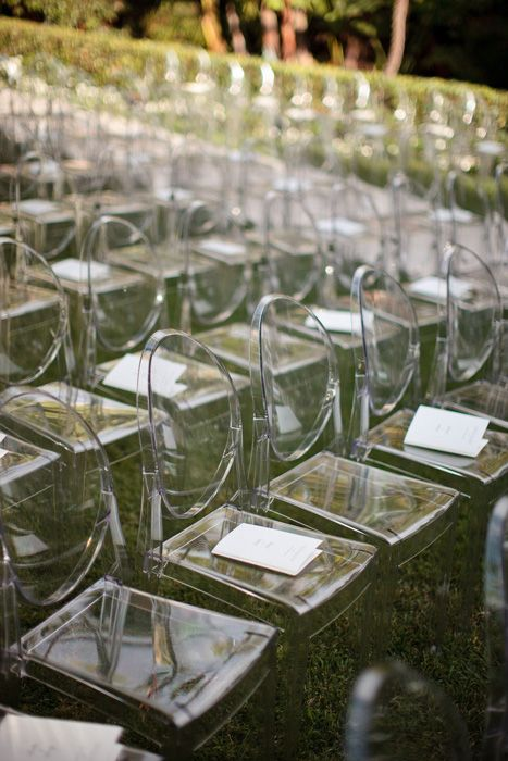Wedding Seating Trends: Ghost Chairs | Wedding seating, Ceremony .