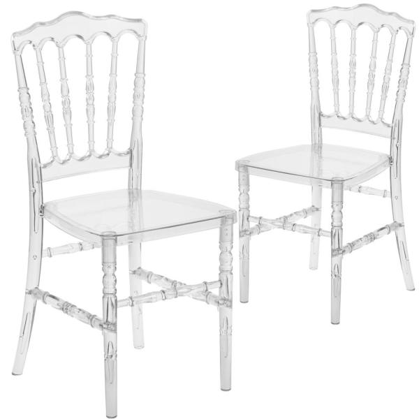 Carnegy Avenue Crystal Ice Ghost Chairs (Set of 2) CGA-BH-214610 .