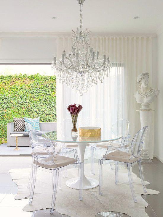 Eero Saarinen | Ghost chairs dining, Acrylic dining chairs, Glass .
