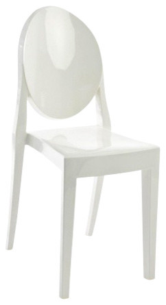Victoria Ghost Chair, Set of 2, Matte - Armchairs And Accent .