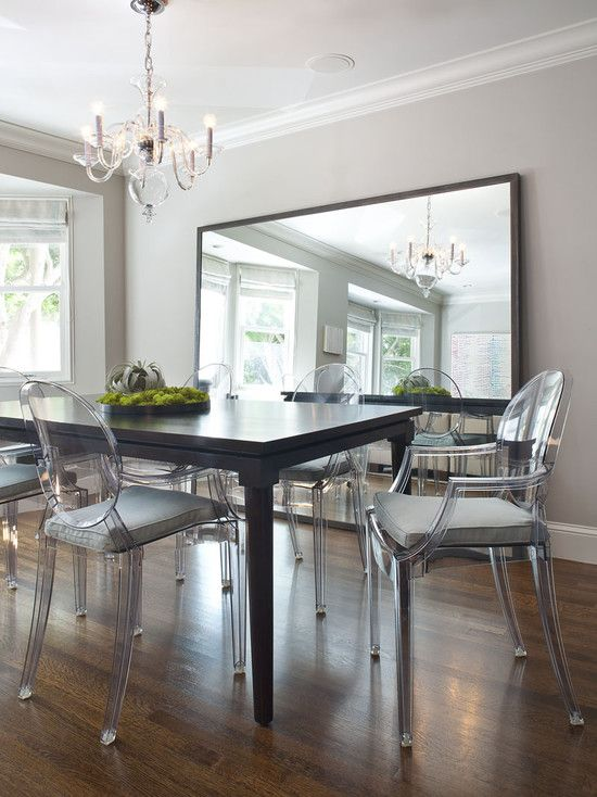 ghost chairs with cushions (With images) | Mirror dining room .