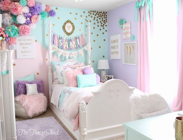 Sami Says AG & The Fancy Shack Girls Pastel Bedroom Room makeover .