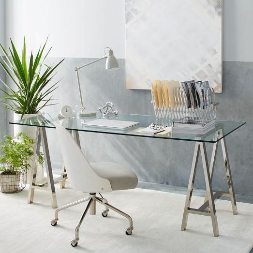 home office formula | Home office design, Glass desk, Furnitu