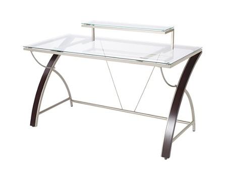 Realspace Axley Glass Desk CherrySilver - Office Dep