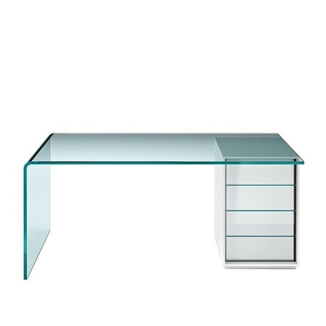 FIAM Rialto-L Desk | Modern Glass Desks | Office – modernpalet