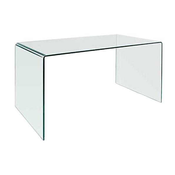 Denmark Modern 59 Inch Glass Desk + Dining Table | Eurw