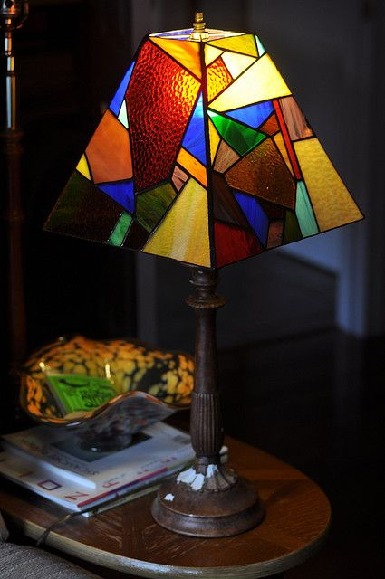 scatter lamp shade (With images) | Stained glass lamp shades .