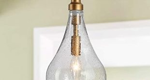 "KSANA Glass Pendant Lighting for Kitchen Island, 6"" Gold Pendant ."