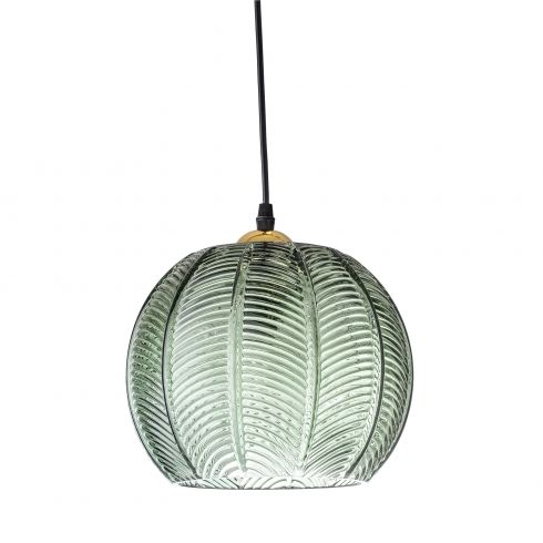 Bloomingville Green Glass Pendant Lamp | Pendant ceiling lamp .