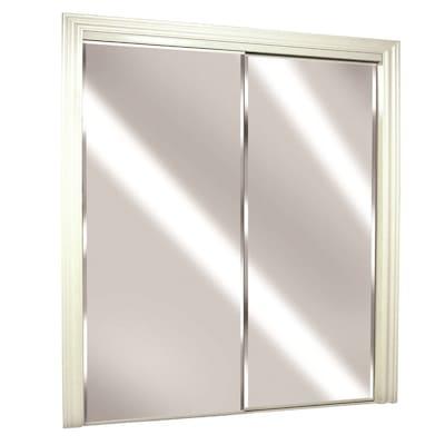ReliaBilt (Glass/Mirror) Flush Steel Sliding Closet Door Hardware .