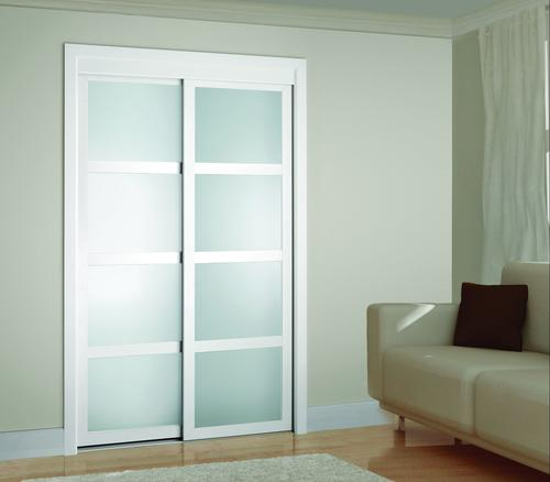 Colonial Elegance Fusion Plus Framed Frosted Glass Sliding Door at .