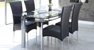Double Glass Top Dining Table Sets | Round dining table modern .