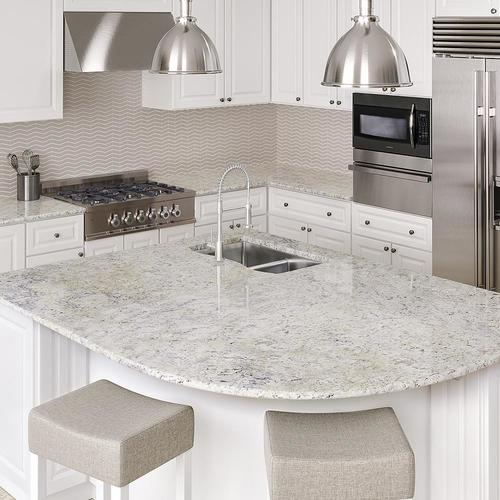 Allen + roth Grey Current Granite Kitchen Countertop Sample at .