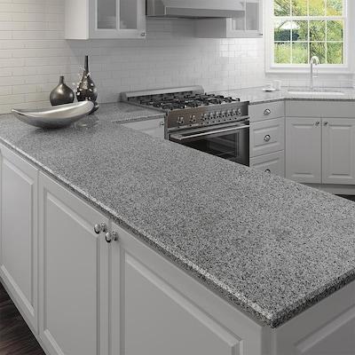 Allen + roth Talulah Pearl Granite Kitchen Countertop Sample at .
