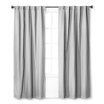 "Twill Blackout Curtain Panel Gray (42""x84"") - Pillowfort™ : Targ"