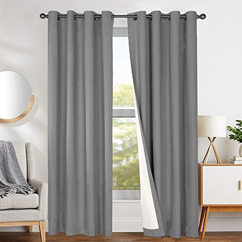 Gray Curtains for Windows in Living Room: Amazon.c