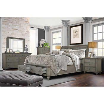Allenville 6-piece King Bedroom Set, Gray in 2020 | King bedroom .