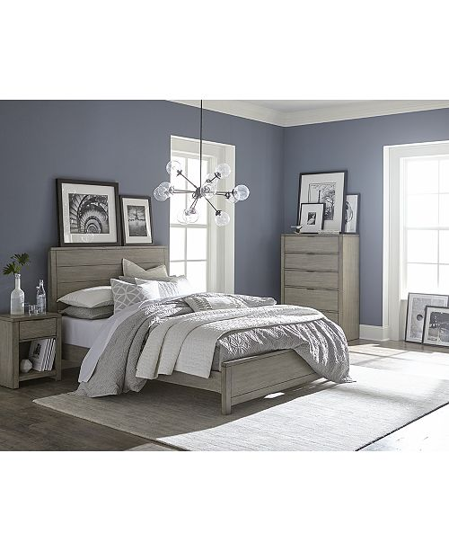 Furniture Tribeca Grey Bedroom Furniture Collection, Created for .