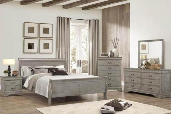 Philip Grey Queen Bedroom Set – Katy Furnitu
