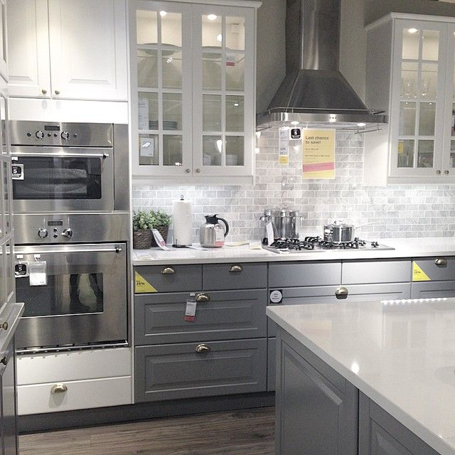 Loving this @ikea showroom kitchen • #ikea @ikeacanada | Kitchen .