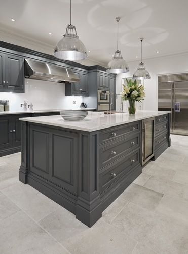 Luxury Grey Kitchen | Grey kitchen designs, Kitchen interior .