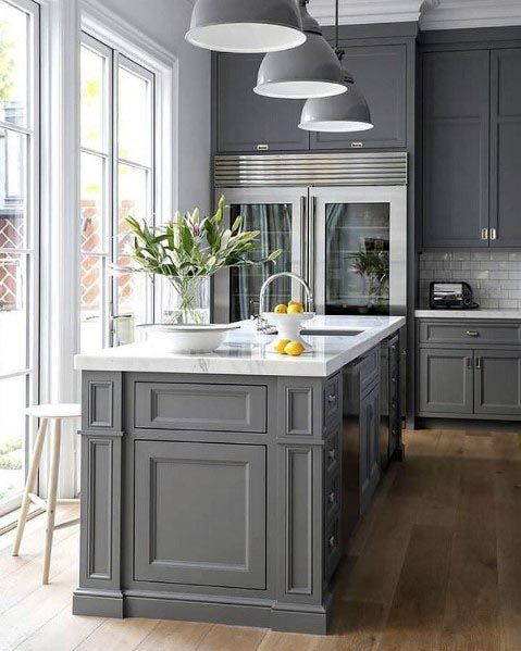 Top 50 Best Grey Kitchen Ideas - Refined Interior Desig