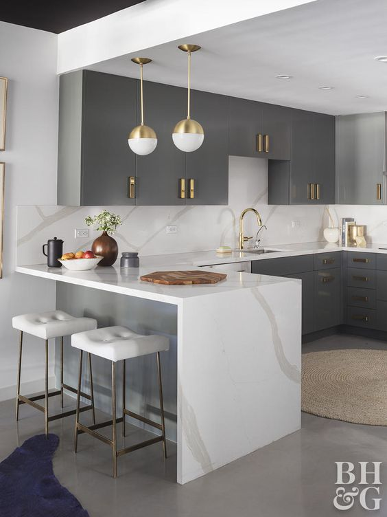 5 kitchens in grey, white and gold that will blow you away - Daily .